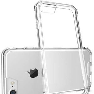 iPhone 8 7 Case Hybrid Modern Clear Back See-Thru
